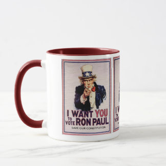 I Wan't You to Vote RON PAUL Save our Constitution Mug