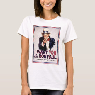 I Wan't You to Vote RON PAUL Save our Constitution T-Shirt