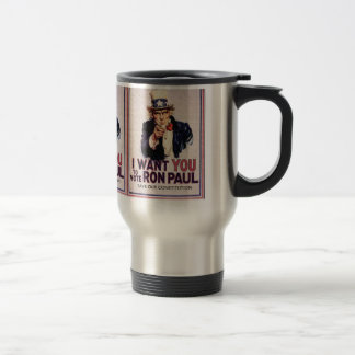 I Wan't You to Vote RON PAUL Save our Constitution Travel Mug