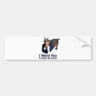 I Want You: To Wash My Horse Bumper Sticker