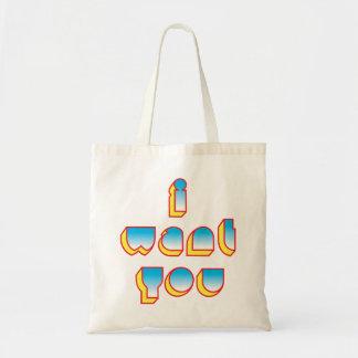 I WANT YOU tote Budget Tote Bag