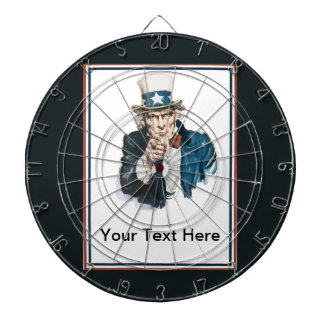 I Want You Uncle Sam  Add Your Custom Text Dartboards