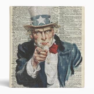 I Want You Uncle Sam Binder