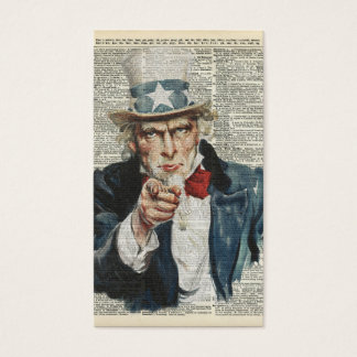 I Want You Uncle Sam Business Card