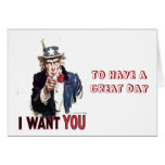 I Want You (Uncle Sam) Card