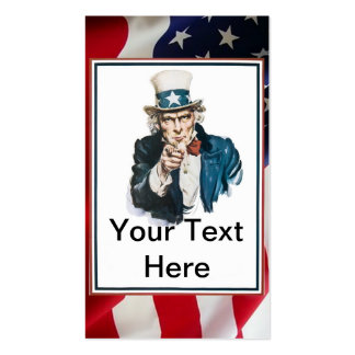I Want You Uncle Sam Customize Your Text Business Cards