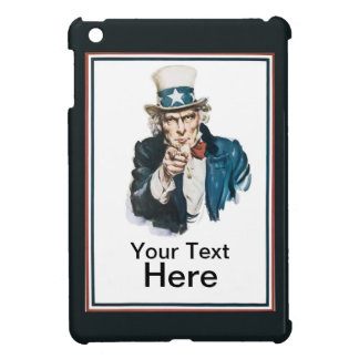 I Want You Uncle Sam Customize Your Text iPad Mini Cover