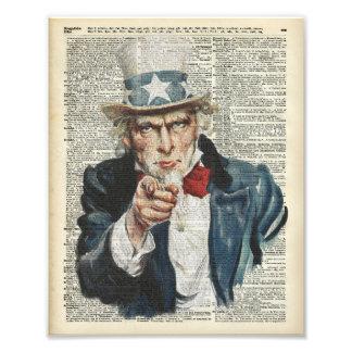 I Want You Uncle Sam Photo Print