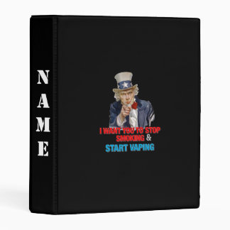 I Want You Uncle Sam Vape Black Mini Binder