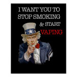 I Want You Uncle Sam Vape Premium Poster at Zazzle