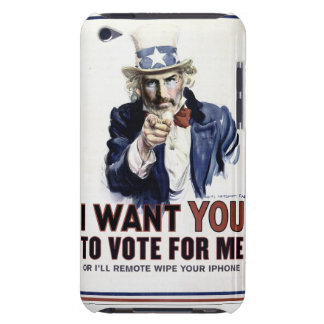 I Want You Vote For me case iPod Touch Cases
