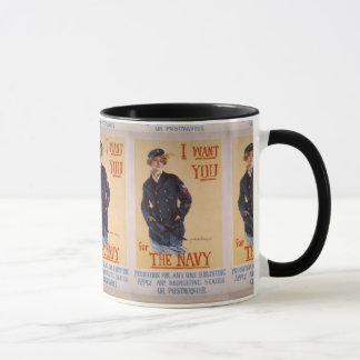 """I Want You"" World War II Navy Recruiting Poster Mug"