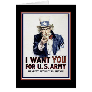 I Want You - WW2 Greeting Card