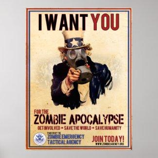 I Want You - Zombie Apocalypse Posters