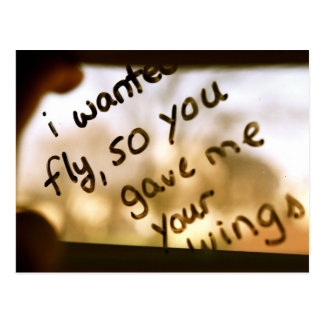 I Wanted To Fly Postcard