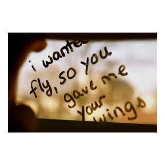 I Wanted To Fly Poster