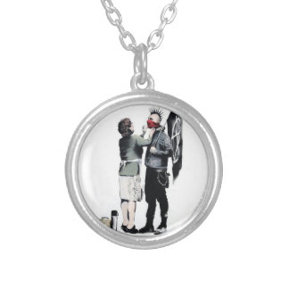 I was a teenage anarchist silver plated necklace