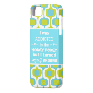 I was Addicted to the Hokey Pokey Retro Pattern iPhone SE/5/5s Case
