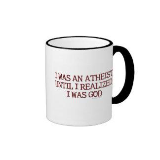 I Was An Atheist Ringer Mug