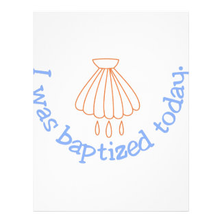 I was Baptized Today Letterhead