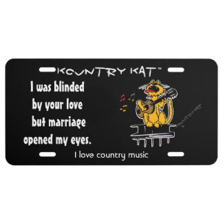 I was blinded by your love  but marriage opened my license plate