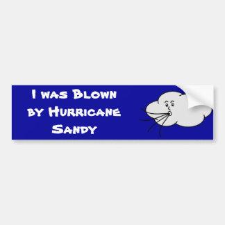 I was blown by hurricane sandy car bumper sticker