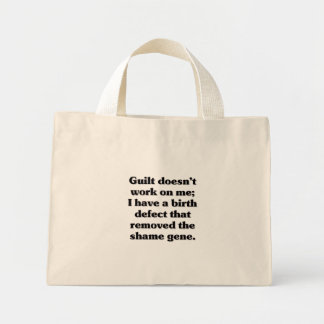I was born guilt free canvas bags
