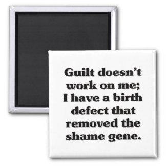 I was born guilt free fridge magnet
