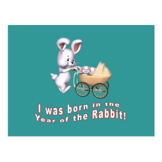 I Was Born in the Year of the Rabbit T shirts Postcard