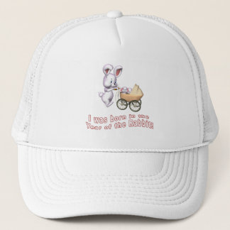 I Was Born in the Year of the Rabbit T shirts Trucker Hat