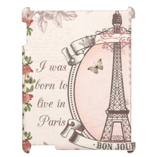I Was Born to Live in Paris iPad Cover