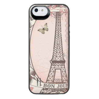 I Was Born to Live in Paris iPhone SE/5/5s Battery Case