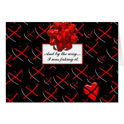 I was Faking it! notecard Greeting Card