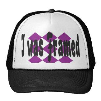 I was framed trucker hat
