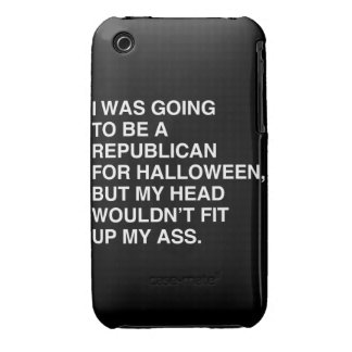 I WAS GOING TO BE A REPUBLICAN FOR HALLOWEEN iPhone 3 Case-Mate CASES