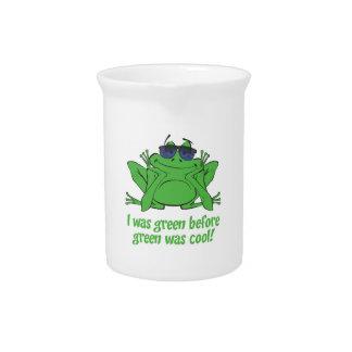 I was Green Beverage Pitcher