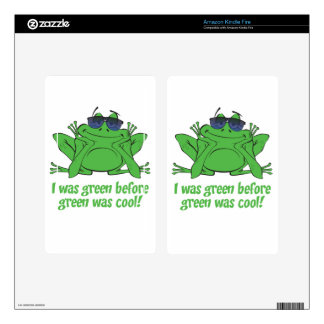 I was Green Decal For Kindle Fire