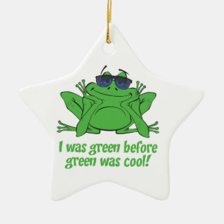 I was Green Double-Sided Star Ceramic Christmas Ornament