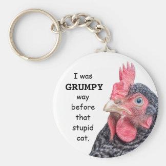 I Was Grumpy WAY before that stupid cat. Keychain
