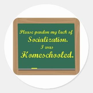 I was homeschooled. stickers