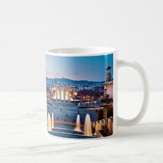 I was in Barcelona: City skyline from Montjüic Classic White Coffee Mug
