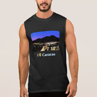 I was in Caracas: Night view of Caracas and Avila. Camisetas Sin Mangas