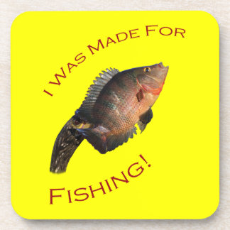 I Was Made for Fishing Drink Coasters