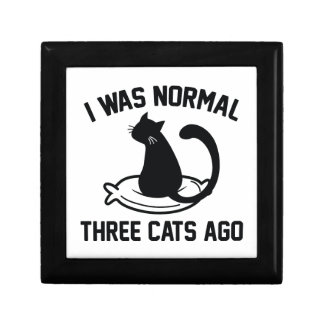 I Was Normal Three Cats Ago Jewelry Box