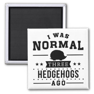I Was Normal Three Hedgehogs Ago 2 Inch Square Magnet