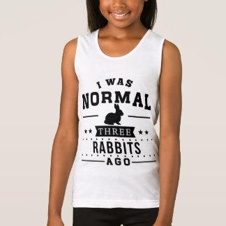 I Was Normal Three Rabbits Ago Tank Top