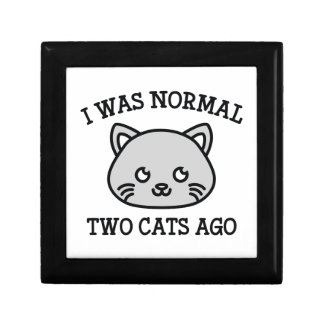 I Was Normal Two Cats Ago Gift Box