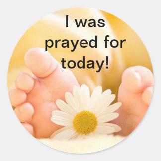 I was prayed for Sticker