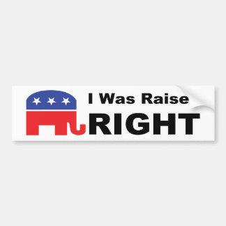 I Was Raised RIGHT Bumper Sticker