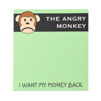 I was ripped off and I want my money back Notepad